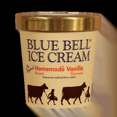 Menu Blue Bell Ice Cream